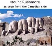 Bagsiden af Mount Rushmore