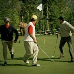 Golf med bjørn