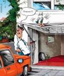 Mislyd fra garageporten