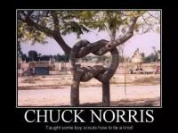 Sådan binder Chuck Norris knuder
