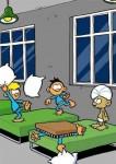 Uheldig pudekamp på børnehjemmet